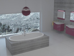 Snow bathtub