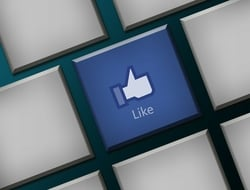 keyboard with a like button