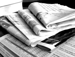 A pile of newspapers