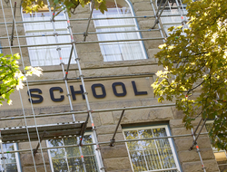 exterior of school building