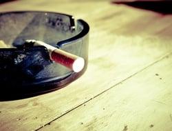 Cigarette in an ashtray