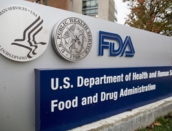 A sign for the FDA building