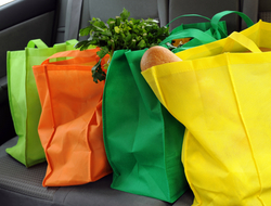 groceries in car
