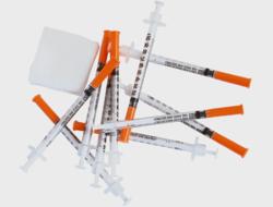 Syringes and swab