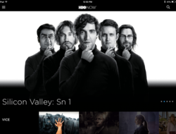 Silicon Valley on iPad HBO Now app