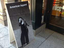 American Apparel sign
