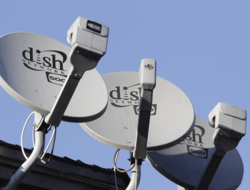 Dish Network satellite dishes on rooftop