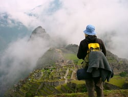 Girl Watching Machu Picchu