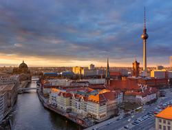 Berlin at sunset