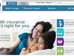 Covered California homepage