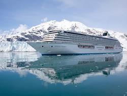 Crystal Serenity sailing in Glacier Bay, Alaska