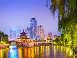 Cityscape of Guiyang, China at night