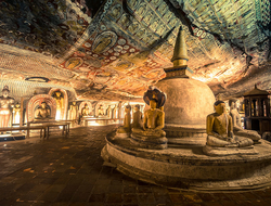 The Dambulla cave temple in Sri Lanka