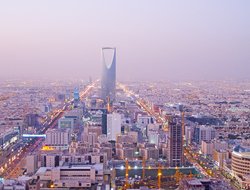The Kingdom Tower in Riyadh, Saudi Arabia