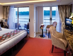 AmaCerto AmaWaterways Twin Balcony Concept Stateroom Copyright by AmaWaterways Editorial Use Only