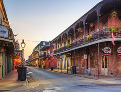 View of the French Quarter in New Orleans