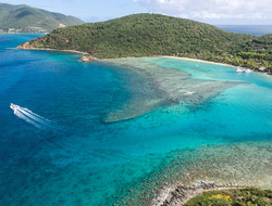 Aerial view of Rosewood Little Dix Bay