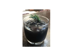 Black rum cocktail