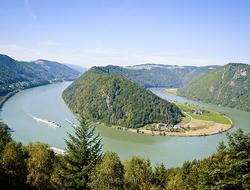 Schloegener Schlinge, a famous geological feature in Upper Austria on the Danube River
