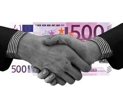 Euro and Handshake Image