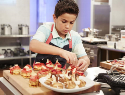 Kid Chef Zach Hofen during the Fusion Impossible, Cookoff Challenge, as seen on Food Network's Rachael Ray's Kids Cook-Off, Season 1