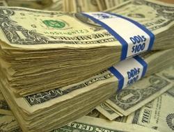Cash dollar bills