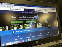 Healthcare.gov site on computer