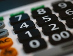 Calculator closeup