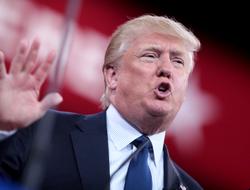 Trump With Hand Raised