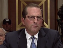 Alex Azar Senate Hearing