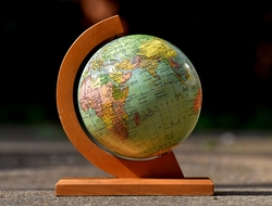 Globe earth world map