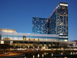 The Marriott Marquis Houston opened in December 2016 and is connected to the George R. Brown Convention Center.