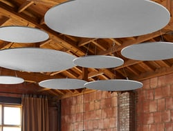EchoCloud is a new acoustic ceiling system from Kirei.