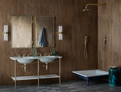 The new Leawood tap and shower collection was designed by Martin Brudnizki for Drummonds.