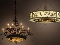 Meyda Custom Lighting launched the Greenbriar Oak 8-arm chandelier and Oak Leaf & Acorn Chandel-Air.