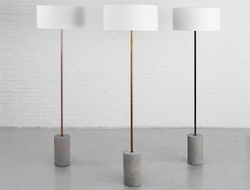 m.a.d. Furniture Design launched the Pier floor lamp, which mixes materials for a fresh aesthetic.