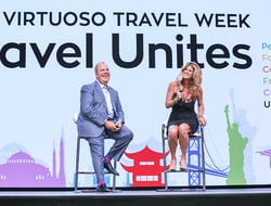 Executives onstage during Virtuoso Travel Week opening ceremony