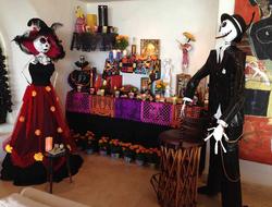 Las Rosadas Day of the Dead altar