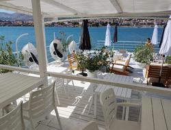 Shot of the private beach club at the Brown Beach House Croatia
