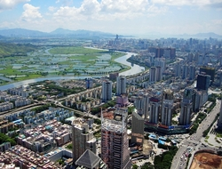View of Shenzhen from high perspective