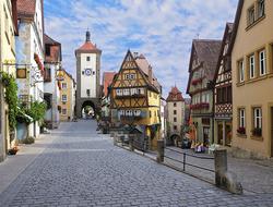 Medieval street in Rothenburg, Germany