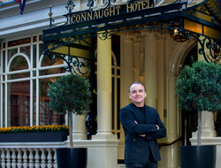 Jean-Georges Vongerichten outside The Connaught