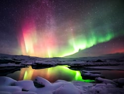Iceland Northern Lights - krissanapongw/iStock/Getty Images Plus/Getty Images