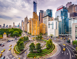 A view of Columbus Circle in New York City