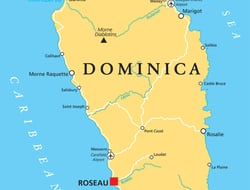 Map of Dominica