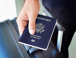Hand Holding U.S. Passport