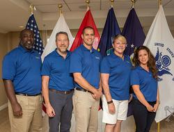 L to R: Army Veteran Fredrick Wilkins, Navy Veteran Brian Williams, Navy Veteran Nicholas Johnson-Moyneur, Air Force Veteran Cynthia Seymour and Air Force Veteran Michelle McGinnis.