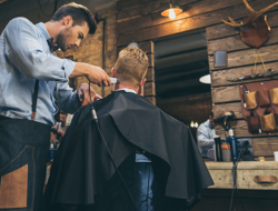 Barbering stock photo