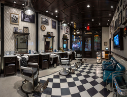 The Barbershop store front inside The Cosmopolitan hotel