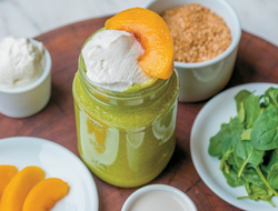 Peaches and Greens Smoothie by Kelly LeVeque